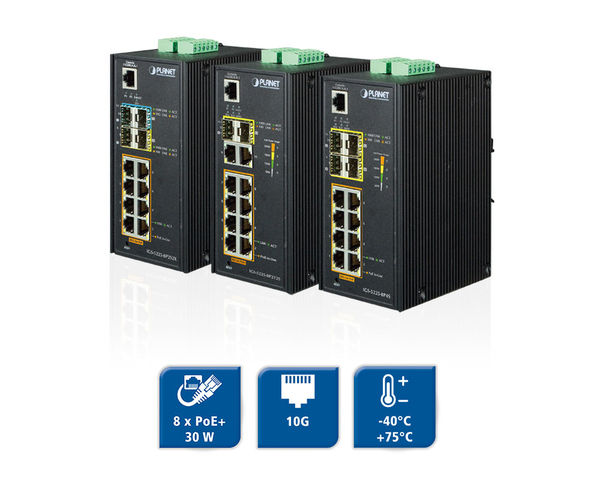 Planet administriebare Switches mit PoE & LWL