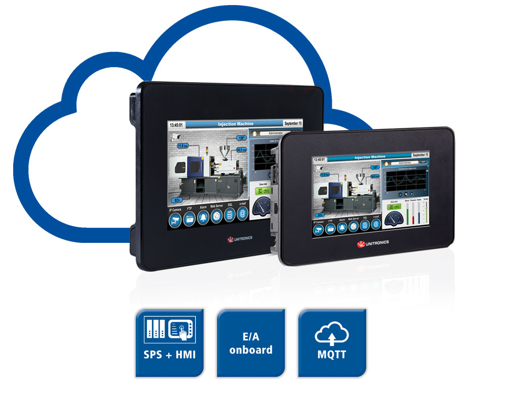All-in-one SPS+HMI mit E/A onboard