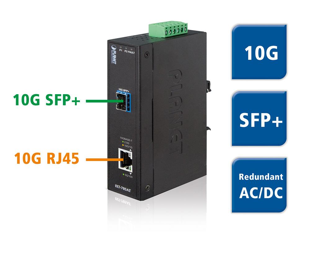IXT-705AT - 10G Media Konverter