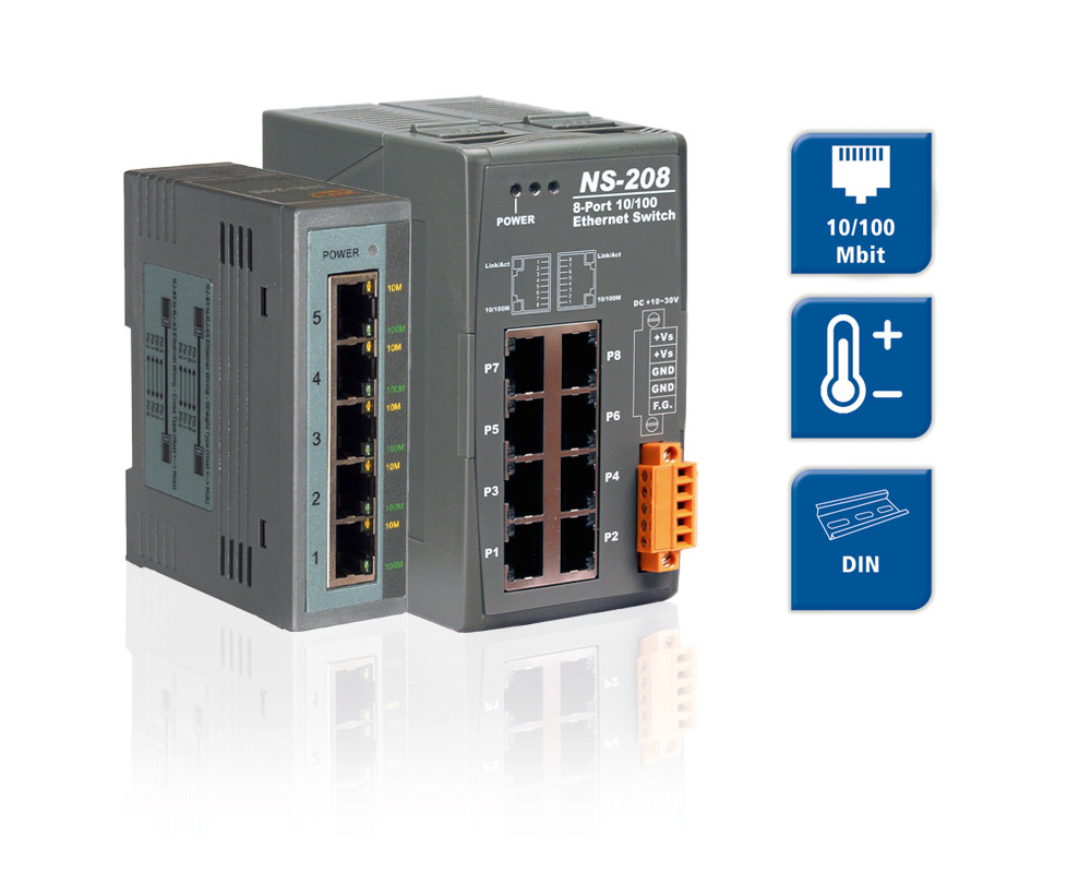 NS-205 & NS-208 - 5-/8- Port Ethernet Switche
