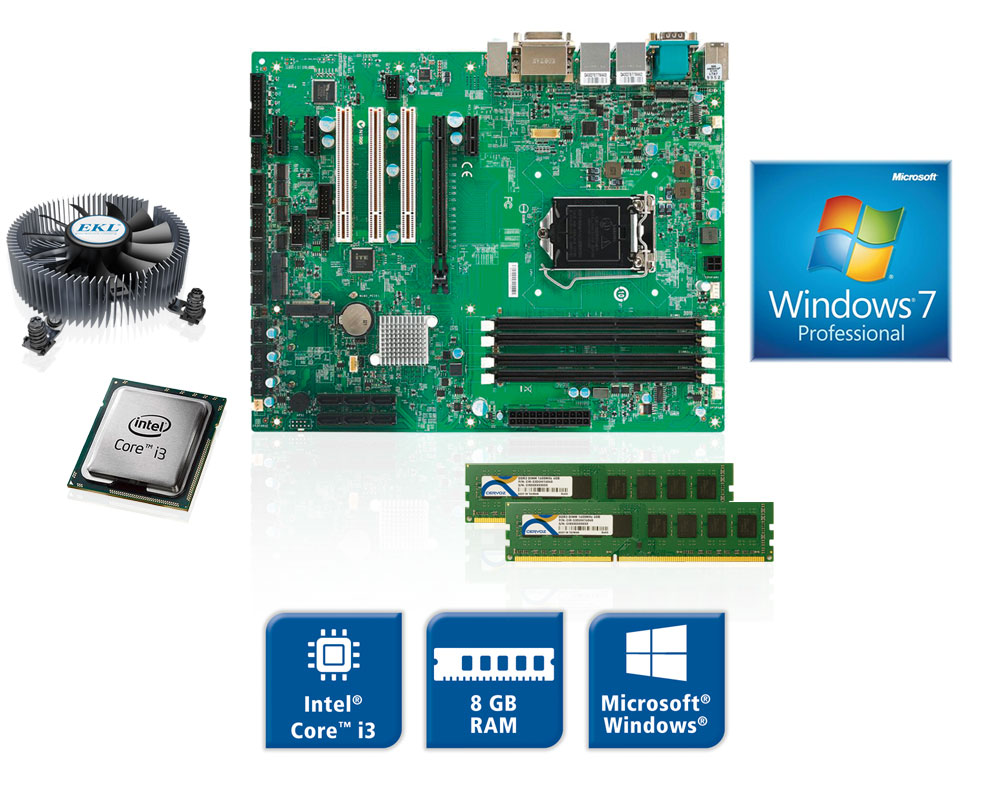 Spectra Board Sets mit CPU, RAM, Lüfter, Windows