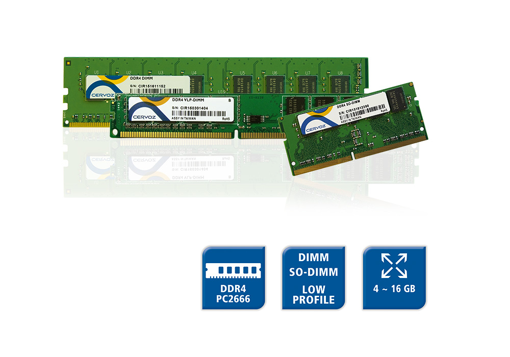 DDR4 PC2666 RAM - DIMM, SO-DIMM & Low Profile