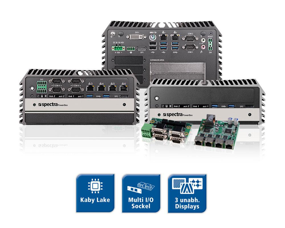 Spectra PowerBox 3000A - Erweiterbare Mini-PC Serie mit Kaby Lake